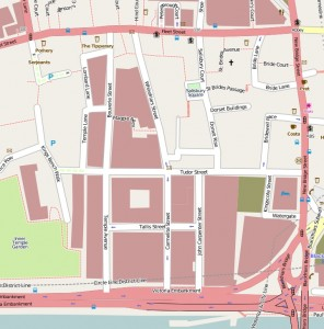 Map of Whitefriars in 2009